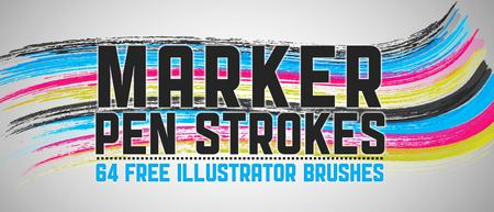 marker pen strokes ai brushes