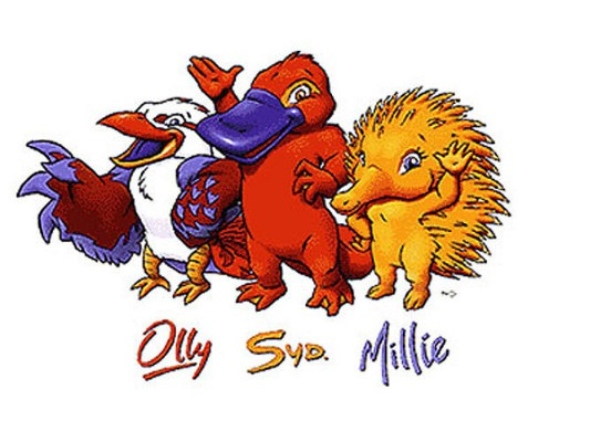 2000 Sydney Olympics Macots - Olly, Syd and Millie