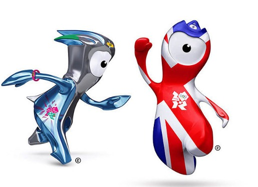 2012 London Olympics Mascots - Wenlock and Mandeville