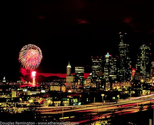 9. Blast from the past, Seattle, July 4 by Douglas Remmington