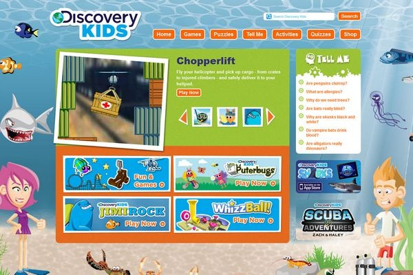 Discovery Kids Website 1