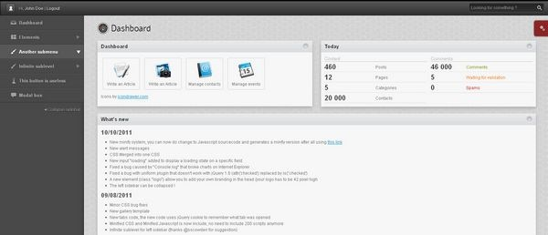 web admin panel templates 213520