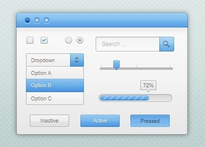 Blue-and-White-GUI-Kit