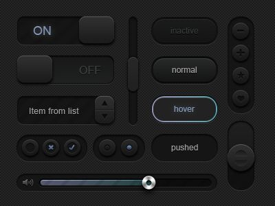 black_ui_kit_designmoo