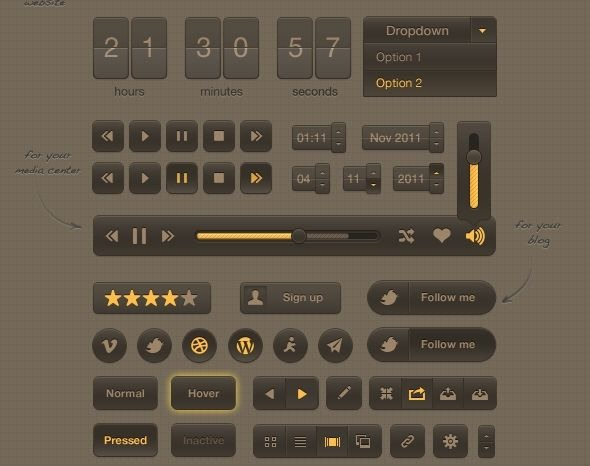 smooth_dark_ui_psd_by_okidoci-d4n4lnj