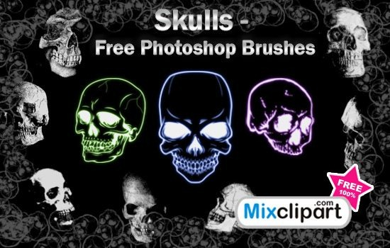 Skulls.Photoshop.Brushes