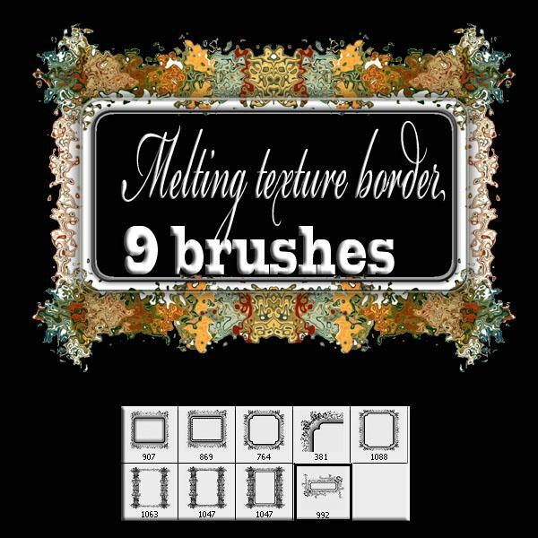 Melting_texture__border_brush_by_designersbrush