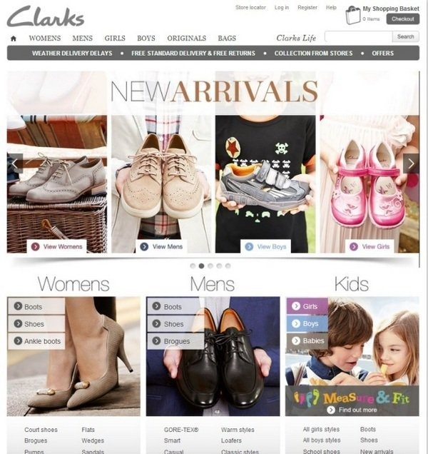 clarks_well_designed_ecommerce_websites