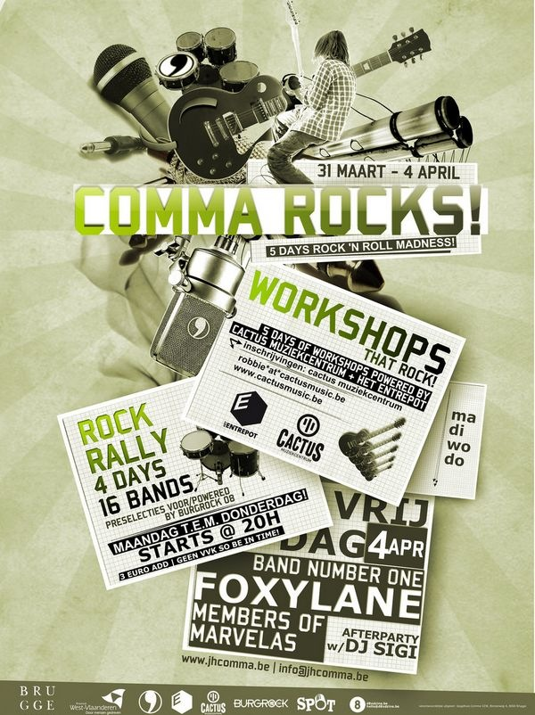 Comma_Rocks_party_flyers