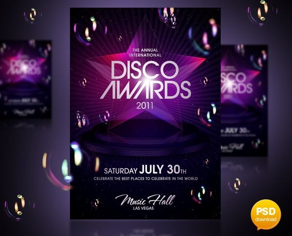 disco_awards_party_flyer