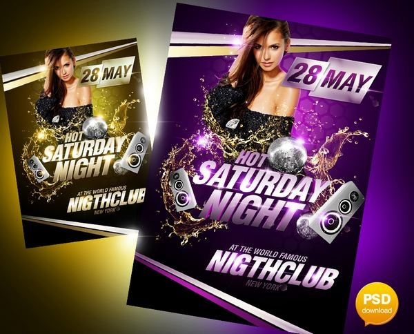 hot_saturday_night_party_flyer