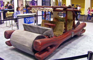 Flintstones_car_model_at_2008_NY_Auto_Show