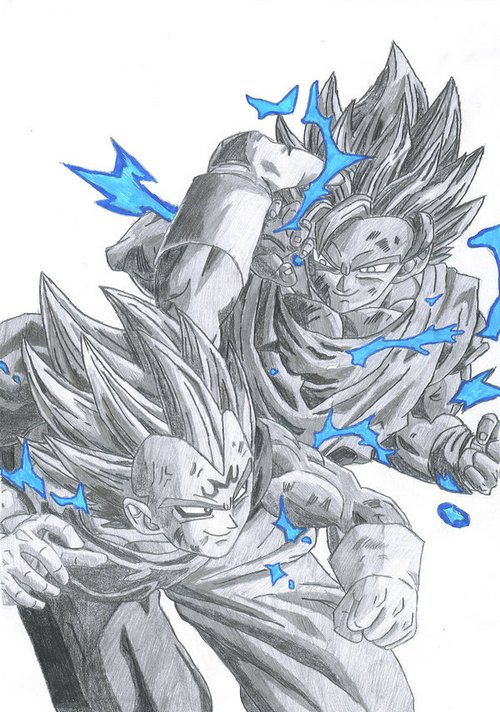 Goku_VS_Vegeta_by_pete_tiernan
