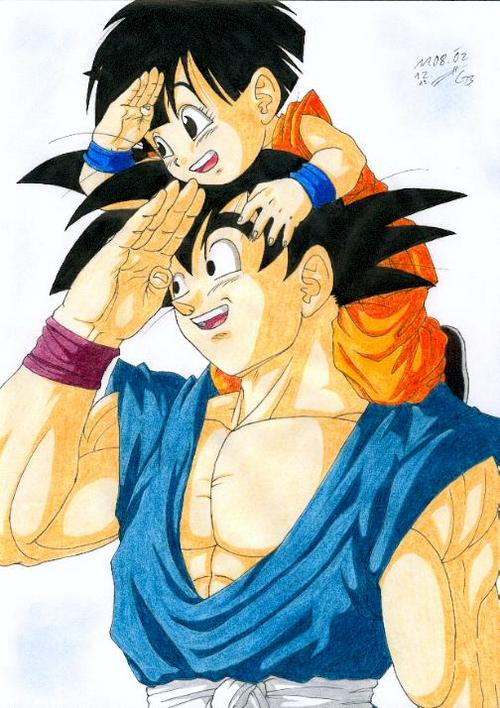 Goku_and_Pan_by_Dragongrit